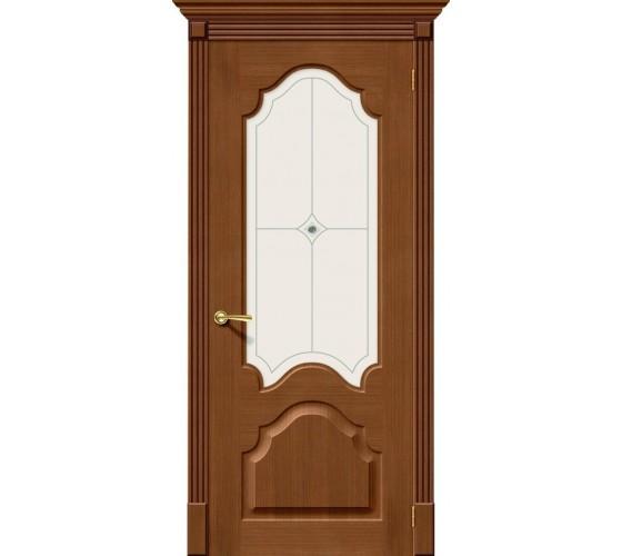 Межкомнатная дверь Афина Орех (Ф-11) White Crystal
