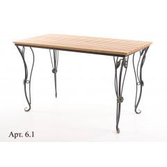 Стол садовый прямоугольный арт.6.1