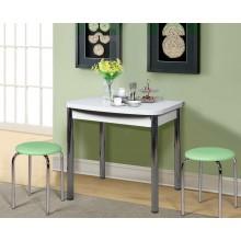 Стол обеденный поворотно-раскладной на металлических опорах